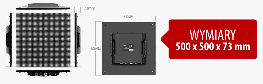 Najnowszy Ekran LED P5 INDOOR - OUTDOOR - Wymiary