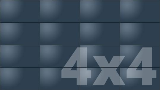 Telebim - monitory bezszwowe - videowall - proporcje 4x4
