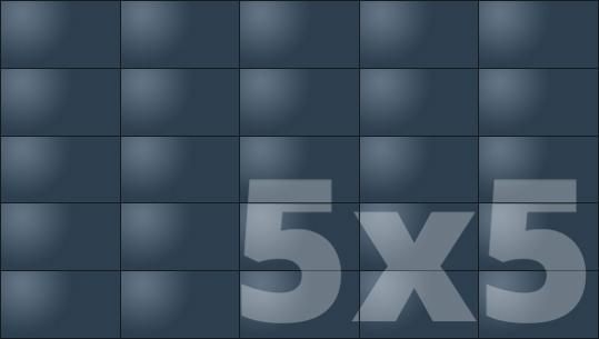 Telebim - monitory bezszwowe - videowall - proporcje 5x5
