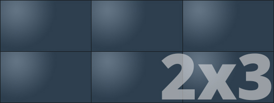 Telebim - monitory bezszwowe - videowall - panoramiczne 2x3