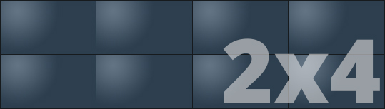 Telebim - monitory bezszwowe - videowall - panoramiczne 2x4