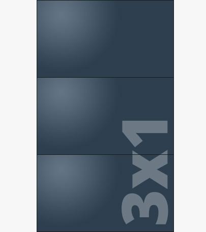 Telebim - Monitory bezszwowe - w formie totemu - 3x1