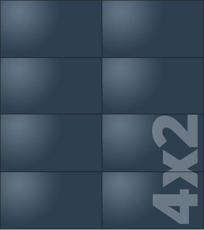 Telebim - Monitory bezszwowe - w formie totemu - 4x2