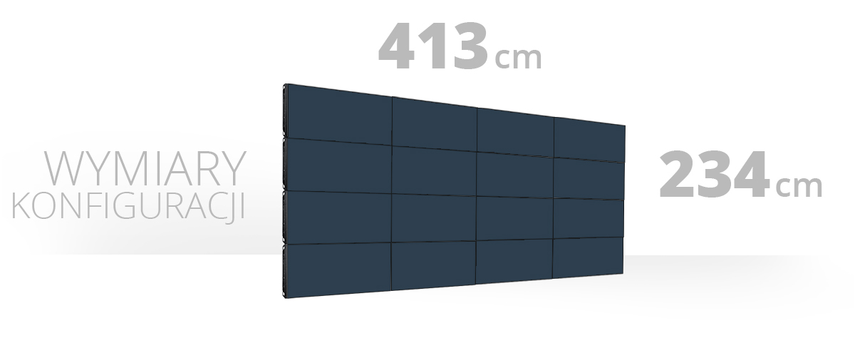 Telebim - Monitory bezszwowe - 4x4