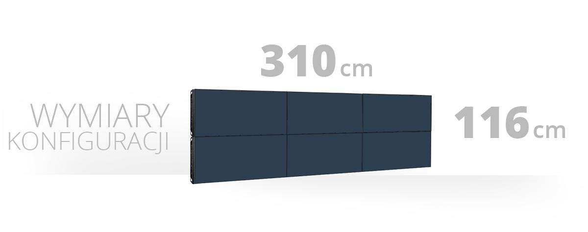 Telebim - Monitory bezszwowe - videowall - proporcje 1x3