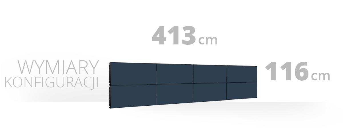 Telebim - Monitory bezszwowe - videowall - 2x4